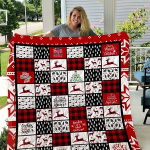 Merry Christmas Theme Dear Santa Define Good Quilt Blanket Great Customized Blanket Gifts For Birthday Christmas Thanksgiving