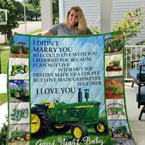 Wife Tractor Love Made Us Forever Together Quilt Blanket Great Customized Blanket Gifts For Birthday Christmas Thanksgiving