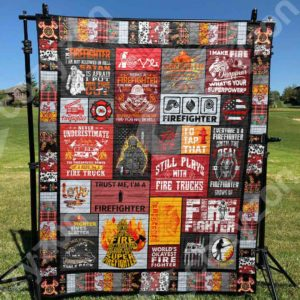 Firefighter I Make Fire Disappear Quilt Blanket Great Customized Gifts For Birthday Christmas Thanksgiving Perfect Gifts For Firefighter