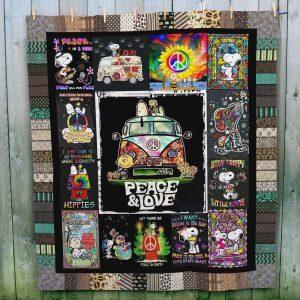 Ll – Snoopy Hippie Quilt Blanket