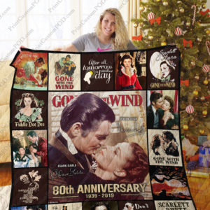 Gone With The Wind Quilt Blanket Ver 6