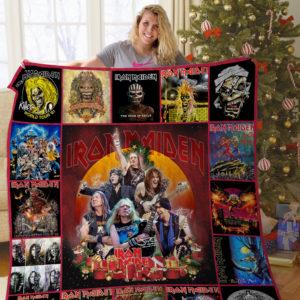 H – Iron Maiden Christmas Quilt Blanket
