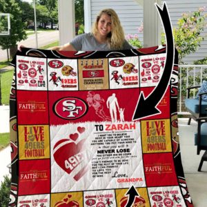 San Francisco 49ers – Personalized Name Quilt Blanket