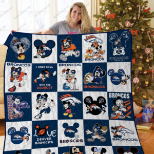 Bl – Denver Broncos Dn Quilt Blanket