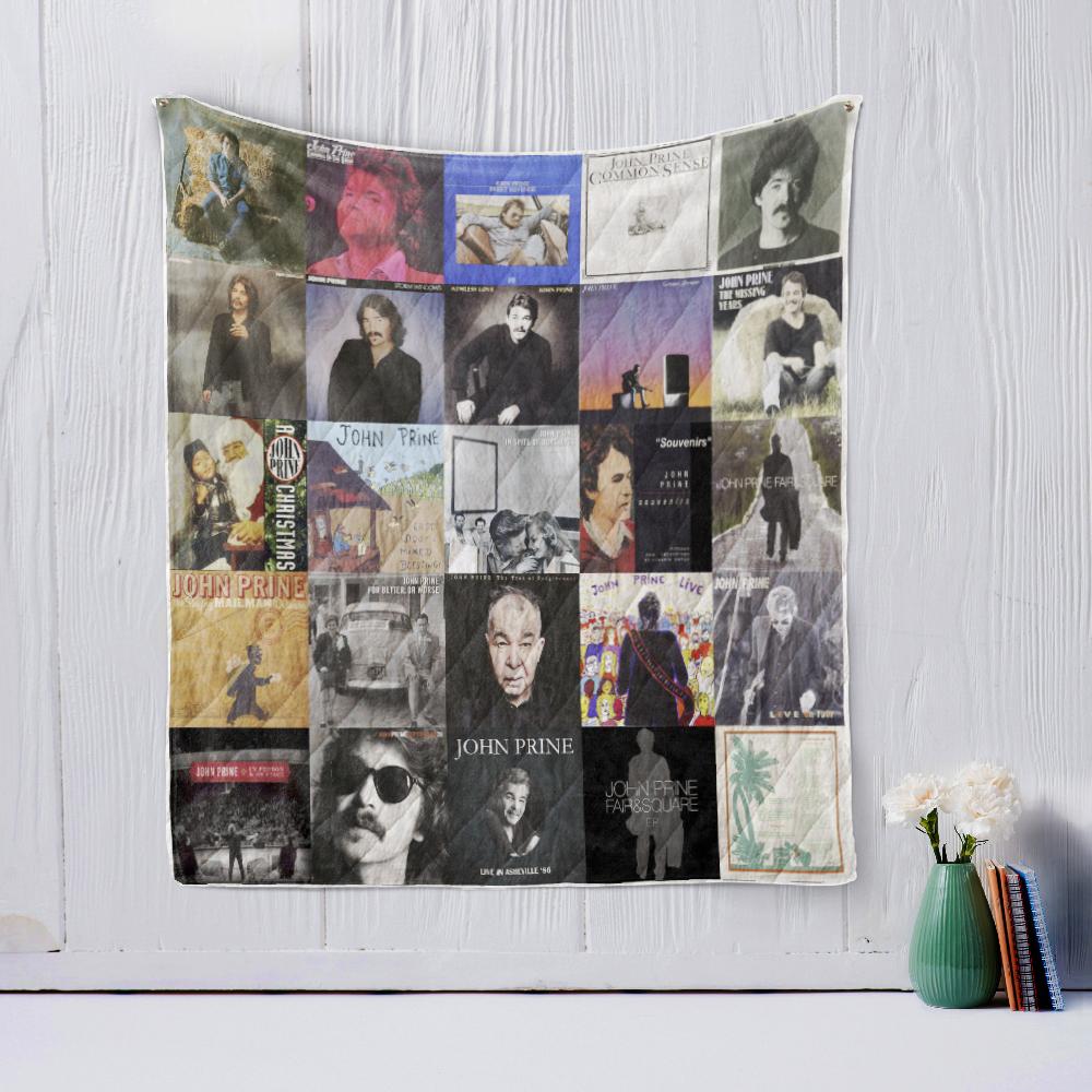 John Prine Quilt Blanket Doveprints