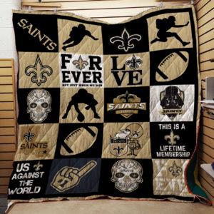 New Orleans Saints Ver 2 Quilt Blanket