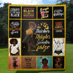 Black Girl Melanin Queen The Sweeter The Prize Quilt Blanket Great Customized Gifts For Birthday Christmas Thanksgiving Perfect Gifts For Black Daughter Girlfriend Wife