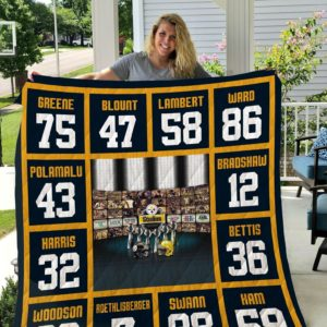 Pittsburgh Steelers 01 Quilt Blanket