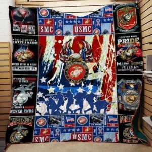 Us Marine Corps Veteran I Served With Pride Quilt Blanket Great Customized Gifts For Birthday Christmas Thanksgiving Perfect Gifts For Veteran Lover