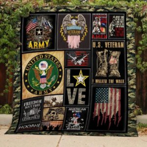 Us Army Veteran Freedom Isn't Free Quilt Blanket Great Customized Gifts For Birthday Christmas Thanksgiving Perfect Gifts For Veteran Lover