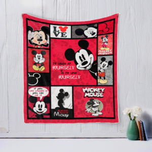 Mickey Mouse Laugh At Yourself Quilt Blanket Great Customized Gifts For Birthday Christmas Thanksgiving Perfect Gifts For Mickey Mouse Lover