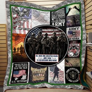 Bc – All Men Are Created Equal Veteran Quilt Blanket