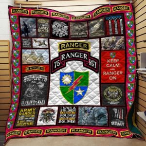 Army Ranger Veteran Quilt Blanket Great Customized Gifts For Birthday Christmas Thanksgiving Veteran Day Perfect Gifts For Veteran