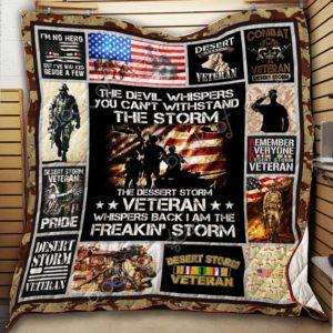 Bc – Desert Storm Veteran Quilt Blanket