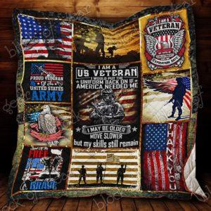 Bc – I Am A U.S Veteran Quilt Blanket