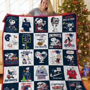 New England Patriots Snoopy Quilt Blanket Ver 25