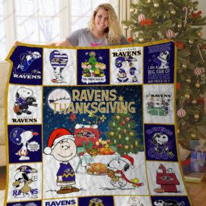 Bl – Baltimore Ravens+ Snoopy Quilt Blanket Ver 2