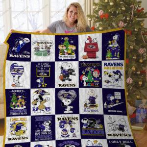 Bl – Baltimore Ravens+Snoopy Quilt Blanket Ver 25