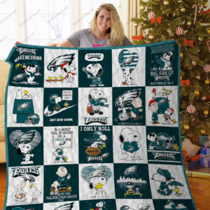 Bl –philadelphia Eagles+Snoopy Quilt Blanket