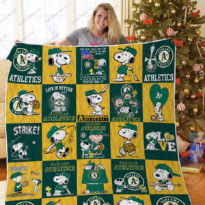 H – Oakland Athletics+Snoopy Quilt Blanket Ver Sp