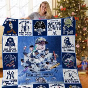 New York Yankees+Starwars Quilt Blanket Ver 17