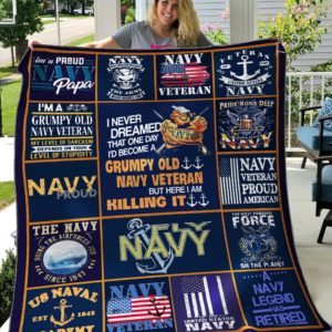Bc – Navy Veteran Quilt Blanket
