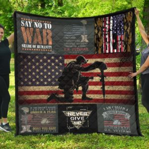 Us Veterans Shame Of Humanity Quilt Blanket Great Customized Gifts For Birthday Christmas Thanksgiving Perfect Gifts For Us Veteran Lover