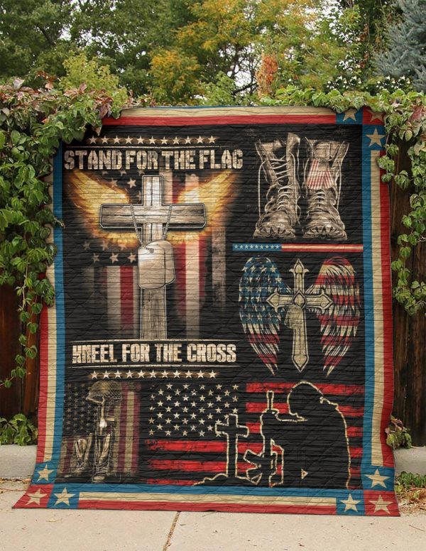 Us Veteran Stand For The Flag Quilt Blanket Great Customized Gifts For Birthday Christmas Thanksgiving Perfect Gifts For Veteran Lover
