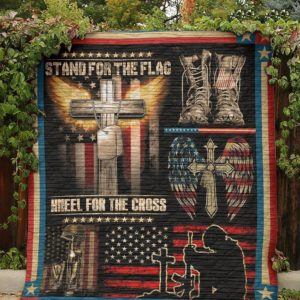 Bc – Stand For The Flag Veteran Quilt Blanket