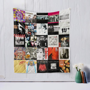 U2 Style 3 Quilt Blanket