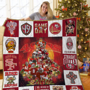 Bl – Sf49ers Christmas Tree Quilt Blanket