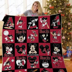 H – Arizona Diamondbacks+Mickey Quilt Blanket