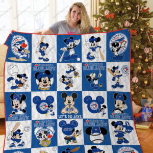 H – Toronto Blue Jays + Mickey Quilt Blanket