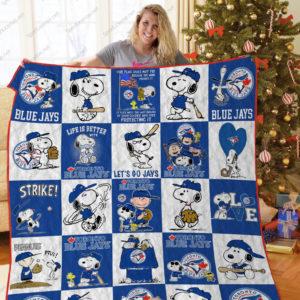 H –toronto Blue Jays+Snoopy Quilt Blanket Ver Sp