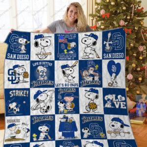 H – San Diego Padres+ Snoopy Quilt Blanket Ver Sp