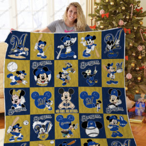 H – Milwaukee Brewers+Mickey Quilt Blanket