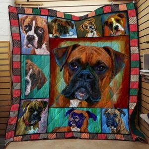 Boxer Dog Quilt Blanket Great Customized Blanket Gifts For Birthday Christmas Thanksgiving