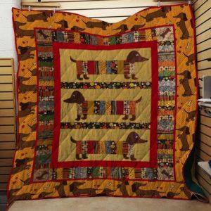 Bc – Dachshund Dog Quilt Blanket 4