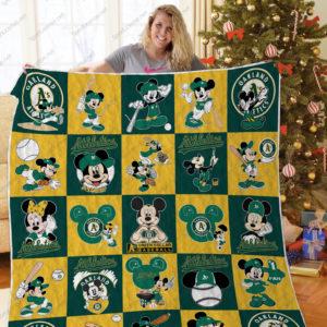 H – Oakland Athletics+ Mickey Quilt Blanket