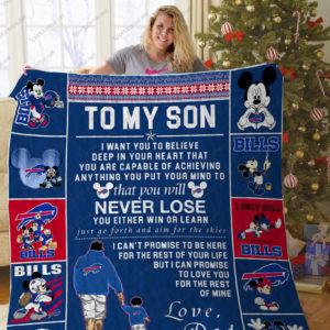 Bl – Buffalo Bills, To My Son Quilt Blanket