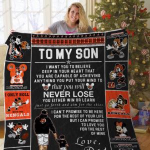 Bl – Cincinnati Bengals To My Son Quilt Blanket