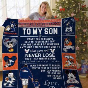 Bl – Denver Broncos To My Son Quilt Blanket