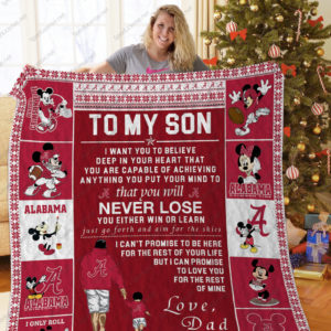 Bl – Alabama Crimson Tide, To My Son Quilt Blanket
