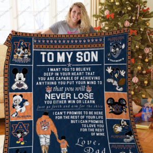 Bl – Auburn Tigers, To My Son Quilt Blanket