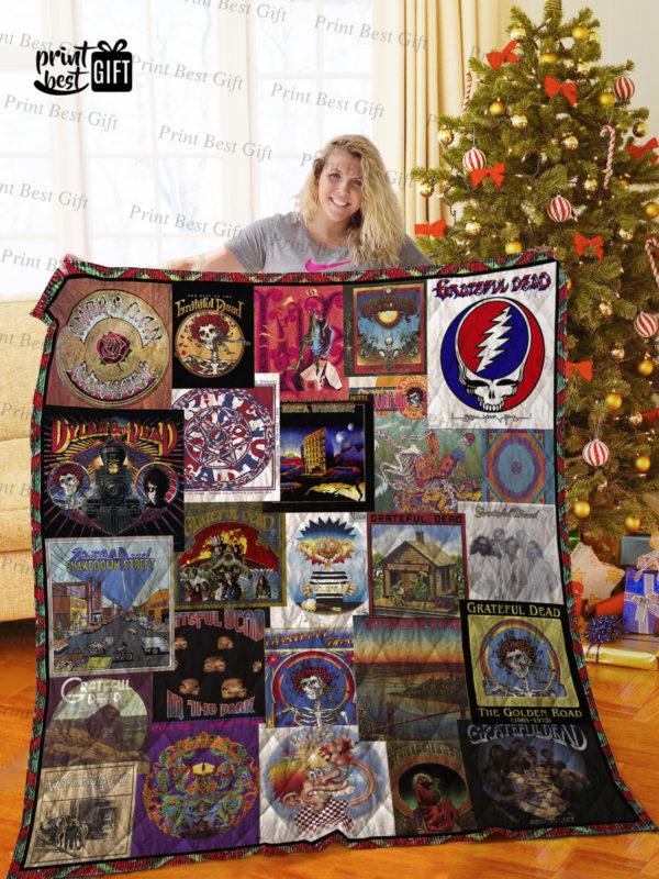 Grateful Dead Albums Cover Poster Quilt Blanket