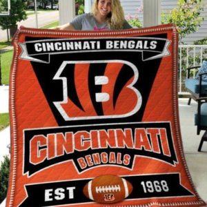 Bc – Cincinnati Bengals Quilt Blanket Ver 02
