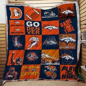 Bc – Denver Broncos Quilt Blanket Ver 03