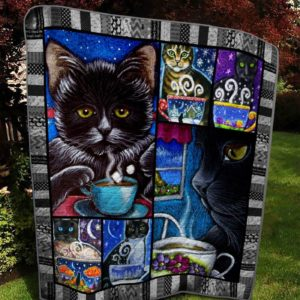 Bc – Cat Coffee 1 Quilt Blanket
