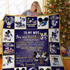 Bl –baltimore Ravens, To My Wife Quilt Blanket