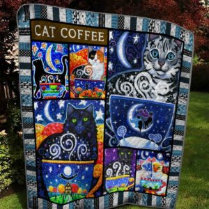 Bc – Cat Coffee 2 Quilt Blanket